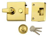 1098 - Standard Stile Cylinder Night Latch White