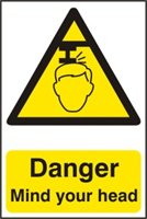 Danger Mind your head - PVC (200 x 300mm)