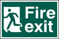 Fire exit man running left - PVC (300 x 200mm)