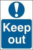 Keep out - PVC (400 x 600mm)
