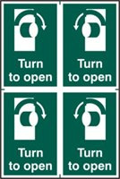 Turn to open - PVC (200 x 300mm)